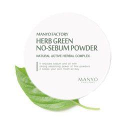 Manyo Factory Herb Green No-Sebum Powder 6.5g korean cosmetic skincare shop malaysia singapore indonesia