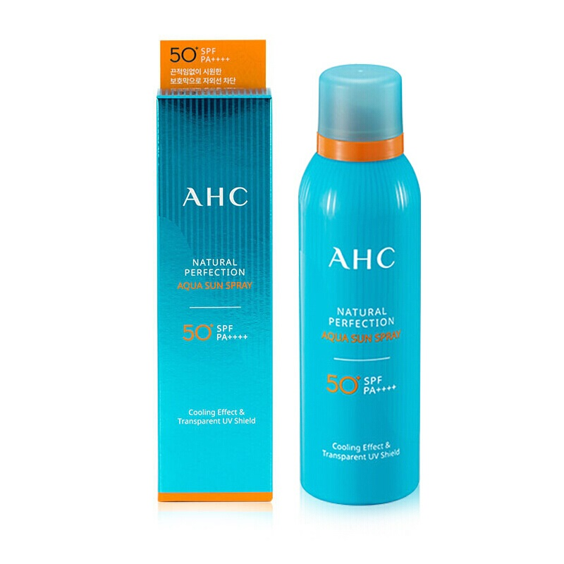 AHC Natural Perfection Aqua Sun Spray SPF50 +PA ++++ 80ml korean cosmetic skincare shop malaysia singapore indonesia