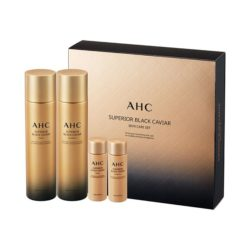 AHC Superior Black Caviar Skin Care Set 330ml korean cosmetic skincare shop malaysia singapore indonesia
