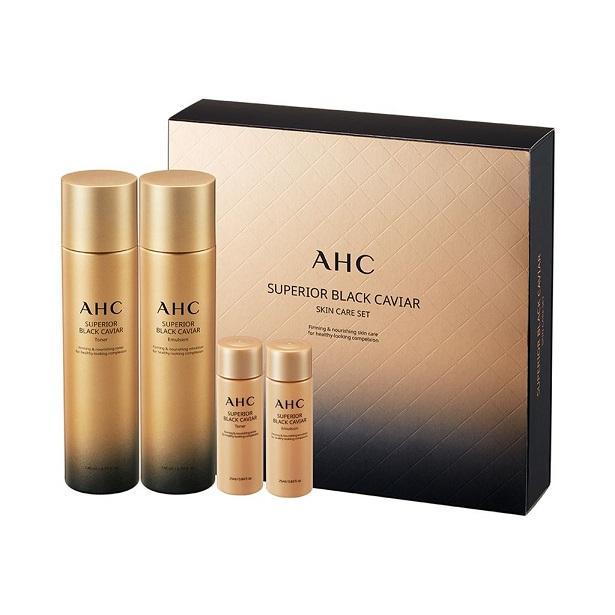 Black Skin Care: AHC Superior Black Caviar Skin Care Set