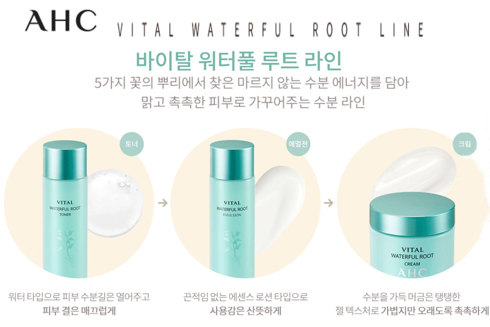AHC Vital Waterful Root Toner 140ml malaysia singapore indonesia