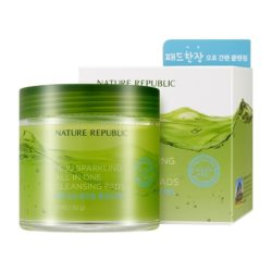 Nature Republic Jeju Sparkling all in one Cleansing Pad korean cosmetic skincare product online shop malaysia china hong kong macau