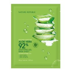 Nature Republic Soothing and Moisture Aloe Vera 92% Soothing Gel Mask Sheet korean cosmetic skincare product online shop malaysia china hong kong macau
