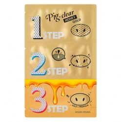 Holika Holika Pig Clear Honey Gold Black Head 3 Step Kits korean cosmetic skincare product online shop malaysia China Hong kong