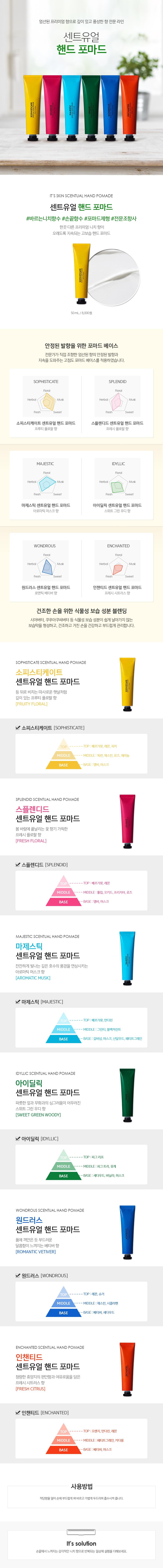 It's Skin Scentual Hand Pomade korean skincare product online shop malaysia taiwan japan usa