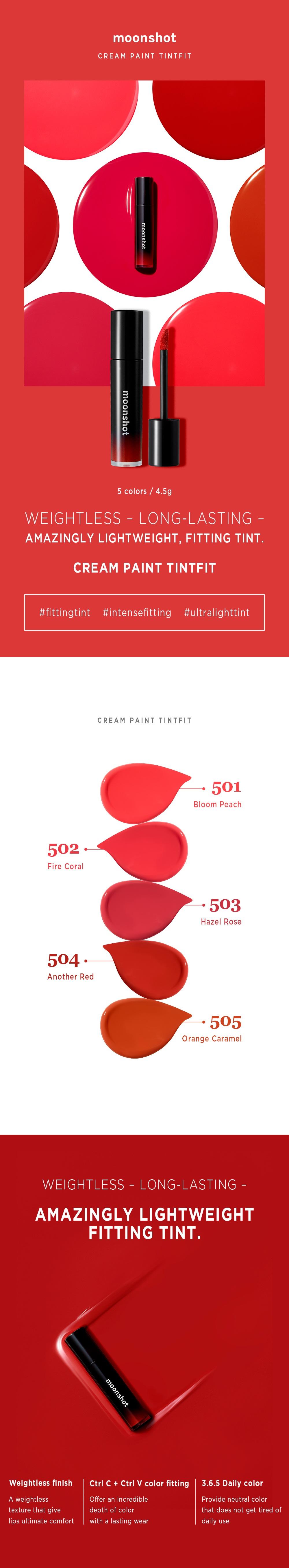Moonshot Cream Paint Tint Fit korean makeup product online shop malaysia vietnam canada1