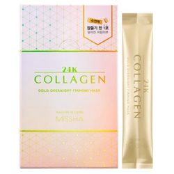 Missha 24K Collagen Gold Overnight Firming Mask korean skincare product online shop malaysia China Poland