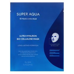 Missha Super Aqua Ultra Hyalon Bio Cellulose Mask korean skincare product online shop malaysia China Poland
