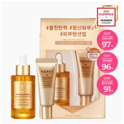 Holika Holika Honey Royalactin Propolis Ampoule Set [ampoule 30m + Cream 20ml] korean cosmetic skincare product online shop malaysia China hong kong
