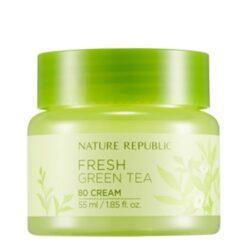 Nature Republic Fresh Green Tea 80 Cream korean skincare product online shop malaysia macau vietnam