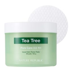 Nature Republic Good Skin Tea Tree Ampoule Toner Pad korean skincare product online shop malaysia china usa