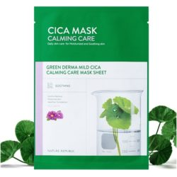 Nature Republic Green Derma Mild Cica Calming Care Mask Sheet korean skincare product online shop malaysia macau vietnam000