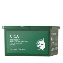 Nature Republic Green Derma Mild Cica Daily Mask Sheet korean skincare product online shop malaysia macau vietnam