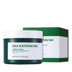 Nature Republic Green Derma Mild Cica Soothing Pad korean skincare product online shop malaysia macau vietnam