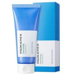Nature Republic Hyalon Active 10 Foam Cleanser korean skincare product online shop malaysia China macau