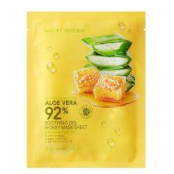 Nature Republic Soothing & Moisture Aloe Vera 92% Soothing Gel Mask Sheet korean skincare product online shop malaysia macau vietnam