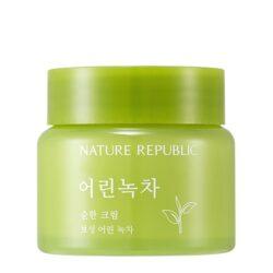 Nature Republic Young Green Tea Mild Cream korean skincare product online shop malaysia china usa